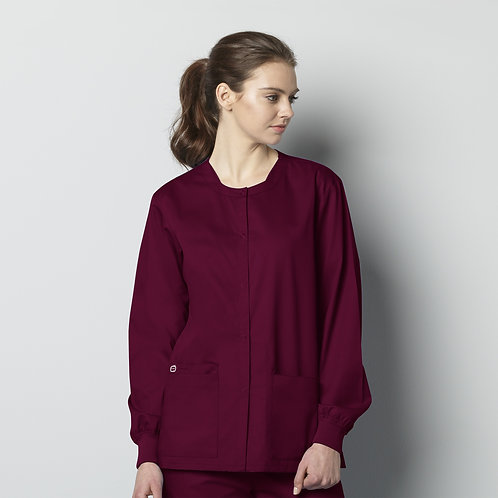 Unisex Snap Front Jacket 800 - Wine