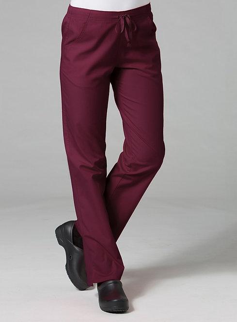 9716 -Half Elastic Pant - Wine