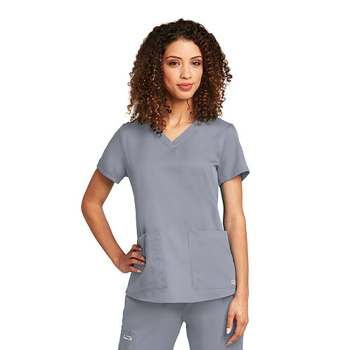Grey's Anatomy tm  2 Pocket V-neck Granite