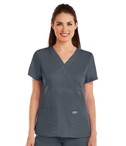 Grey's Anatomy tm-  3 Pocket Mock Wrap - Pewter