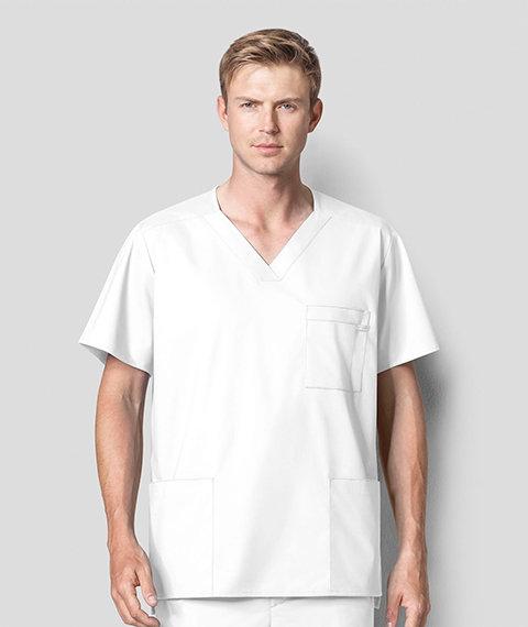 Wonder Work - Men's Multi-Pocket Top White