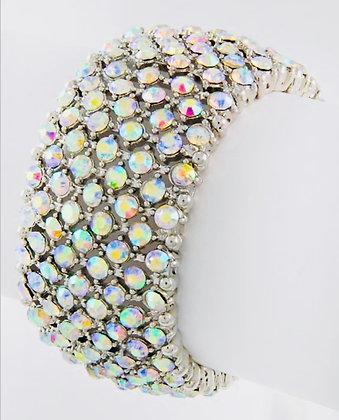 AB Rhinestone Stretch Bracelet