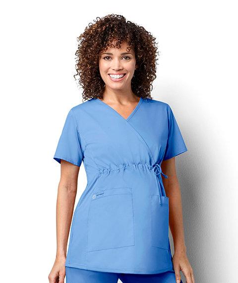 Women's Maternity Mock Wrap - Ceil Blue