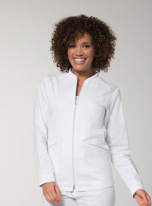 Two Tone Zip Jacket White