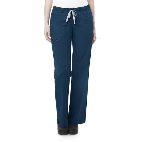 Women's Straight Leg Cargo Pant - Caribbean Blue