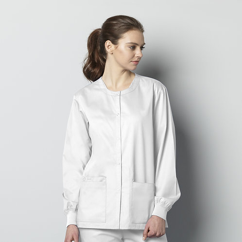 Unisex Snap Front Jacket 800 - White