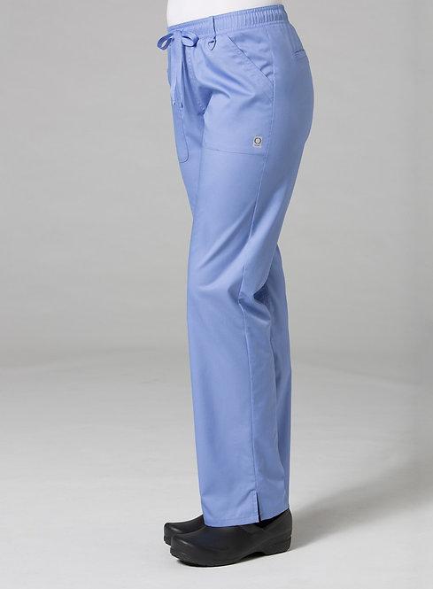7308 [EON]  Full Elastic Cargo Pant Ceil Blue