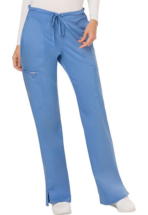 Cherokee - Workwear Revolution - Mid Rise Moderate Flare Drawstring Pant