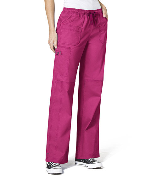 WonderFlex Faith  Women's Boot-cut  Cargo Pants Hot Pink
