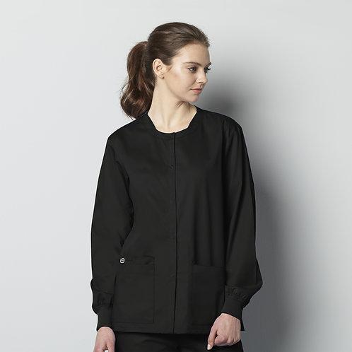Unisex Snap Front Jacket 800 - Black