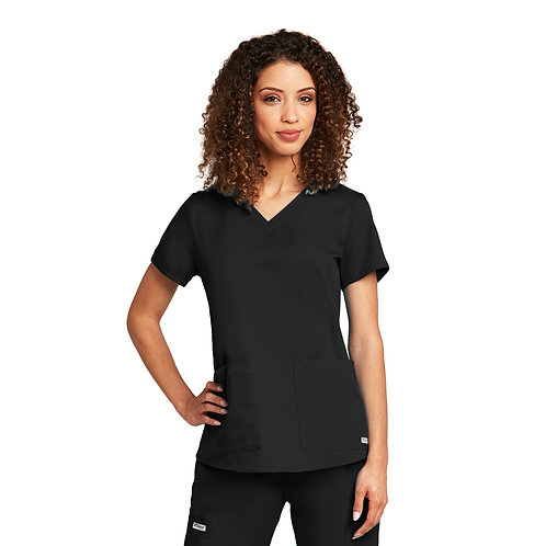 SDW - Grey's Anatomy tm  2 Pocket V-neck Black