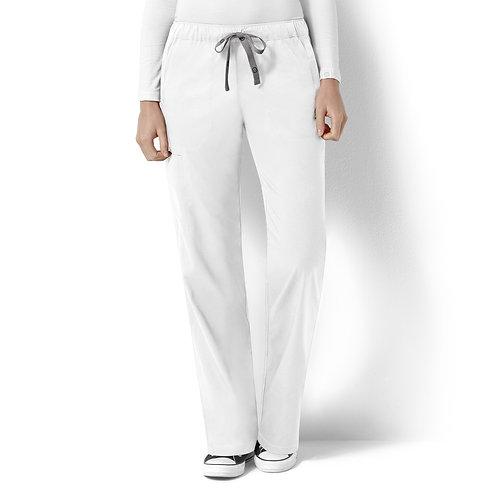 Logan Women's Elastic Waist Pant  5119- White