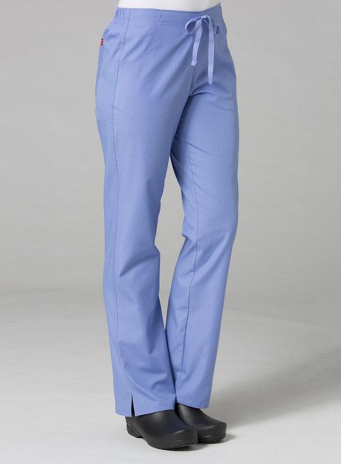 9716 -Half Elastic Pant - ceil blue