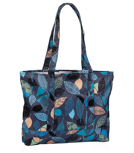 Prestige Fashion Tote Bag - Leaves Grey