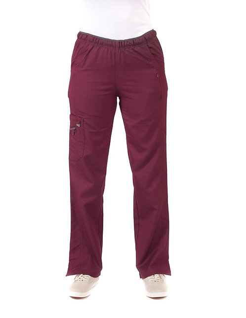 Life Threads - Ergo - Cargo Scrub Pant-Wine