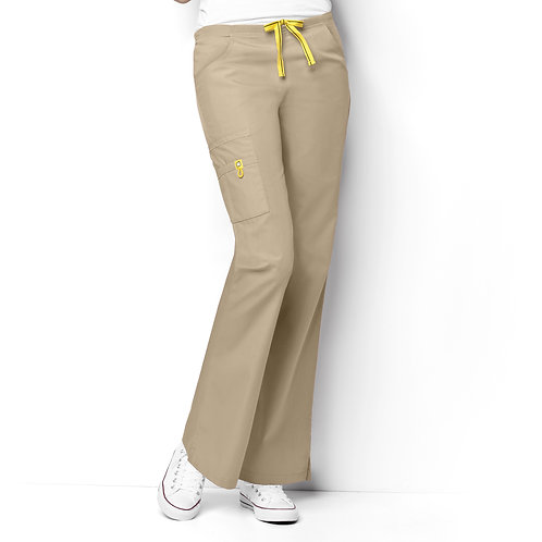 Romeo -6Pkt Flare Leg Women's Pant Khaki