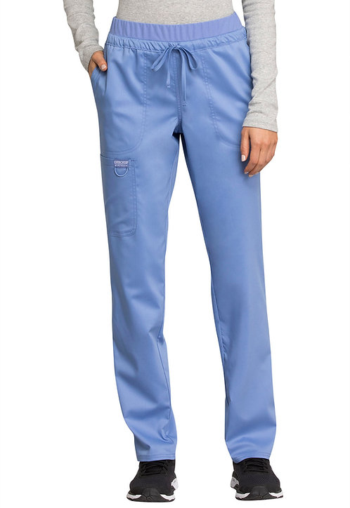 Cherokee - Workwear Revolution - Mid Rise Tapered Leg Drawstring Pant - Ceil