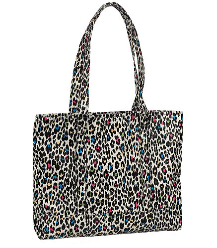 Prestige Fashion Tote Bag - Leopard Print Grey