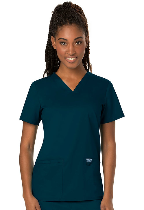 SDW - Cherokee - Workwear Revolution - Modern v-neck top - Caribbean