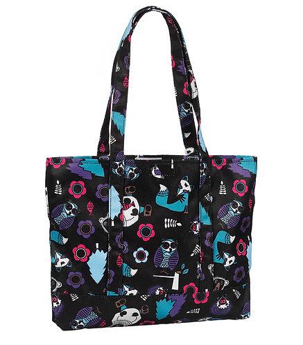 Prestige Fashion Tote Bag -Woodsy Animals Black