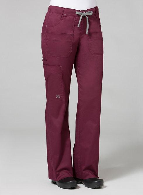 9202 [Blossom]  Utility Cargo Pant Wine