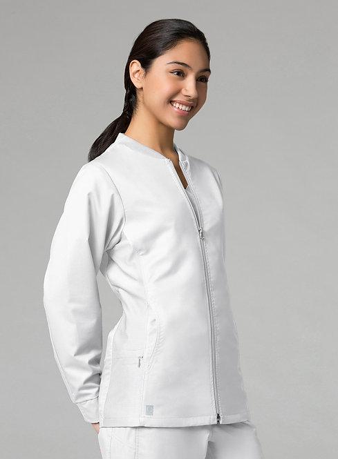 Sporty Mesh Panel Jacket White