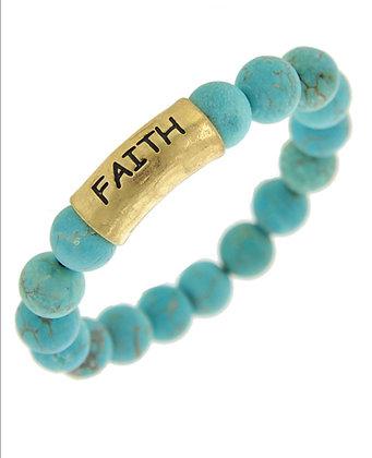 Turquoise Faith Bracelet