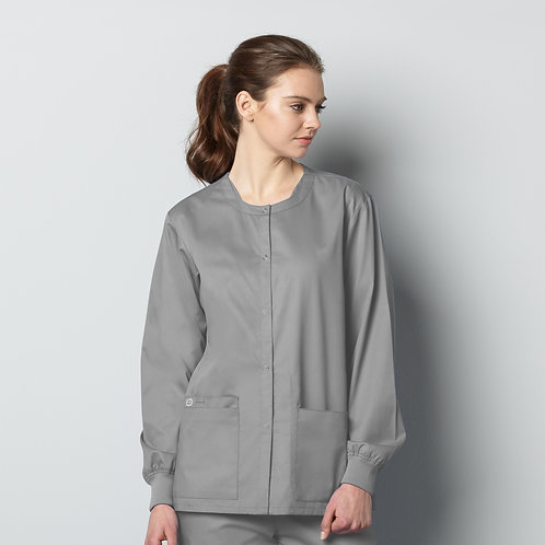 Unisex Snap Front Jacket 800 - Grey
