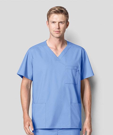 Wonder Work - Men's Multi-Pocket Top Ceil Blue
