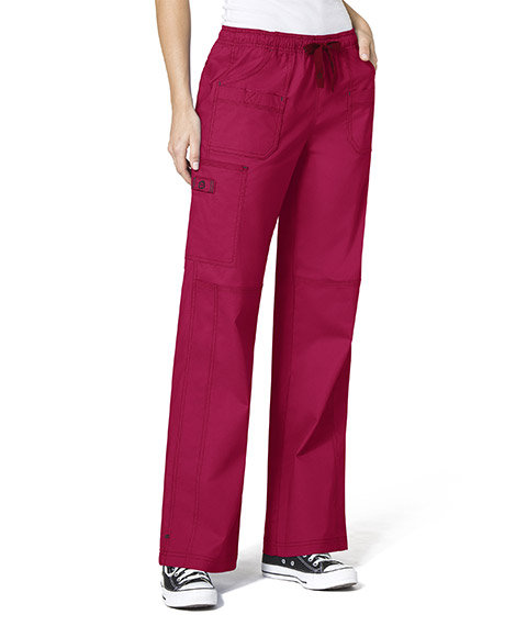 WonderFlex Faith  Women's Boot-cut  Cargo Pants Crimson