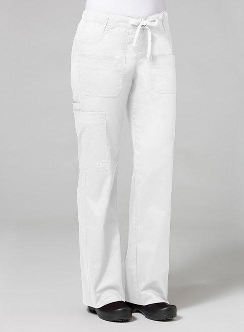 9202 [Blossom]  Utility Cargo Pant White