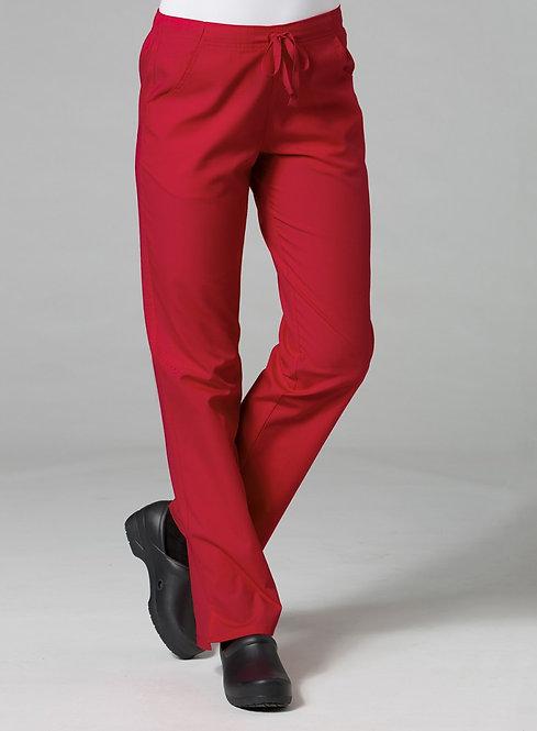 9716 -Half Elastic Pant -Red