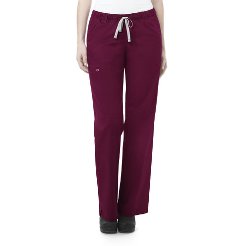 Women's Straight Leg Cargo Pant - Wine