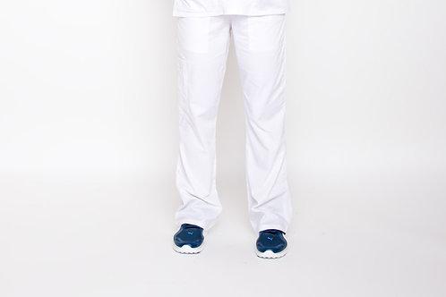 Contego Women's Stretch Cargo Scrub Pant - Style No.1220 White