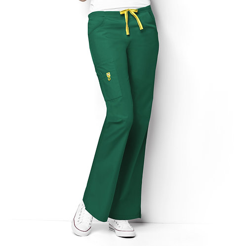Romeo -6Pkt Flare Leg Women's Pant Hunter Green