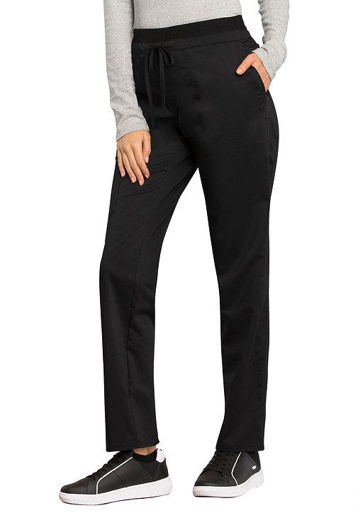 Cherokee - Workwear Revolution - Mid Rise Tapered Leg Drawstring Pant - Black