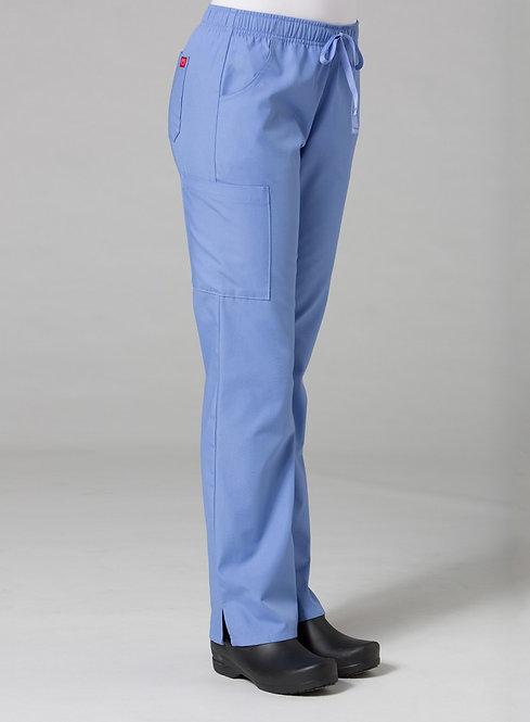 Full Elastic Cargo Pant - Ceil Blue