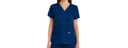 Grey's Anatomy tm-  3 Pocket Mock Wrap Navy