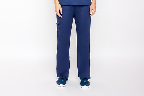 Contego Women's Stretch Cargo Scrub Pant - Style No.1220 Navy