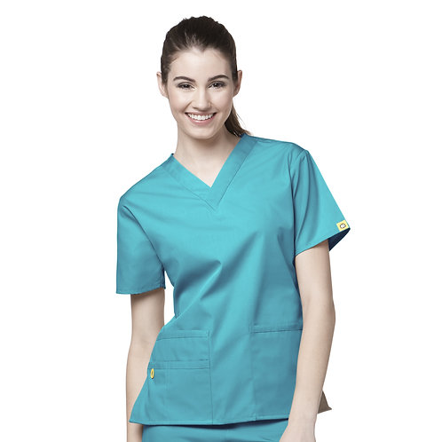 The Bravo V-neck Top TOP Real Teal