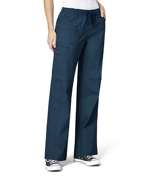 WonderFlex Faith  Women's Boot-cut  Cargo Pants Caribbean Blue