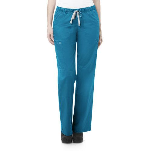 Women's Straight Leg Cargo Pant - Teal