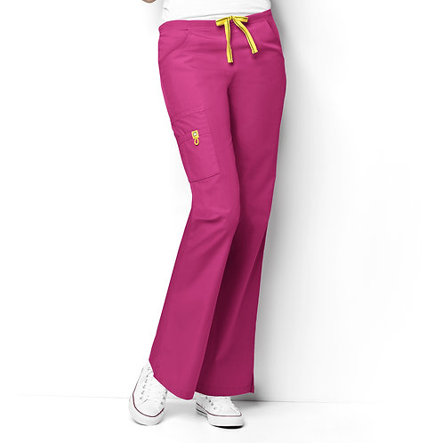 Romeo -6Pkt Flare Leg Women's Pant Hot Pink