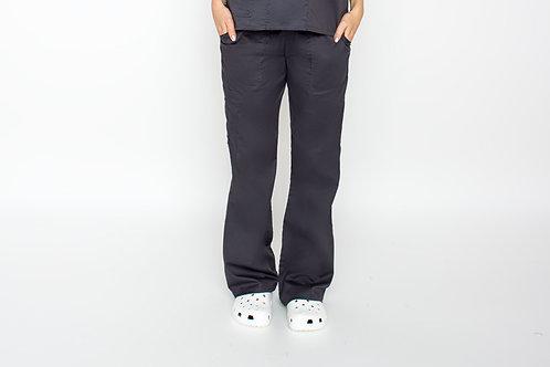 Contego Women's Stretch Cargo Scrub Pant - Style No.1220 Pewter