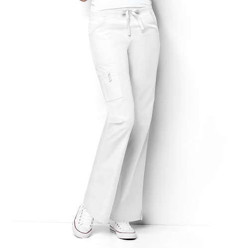 Romeo -6Pkt Flare Leg Women's Pant White