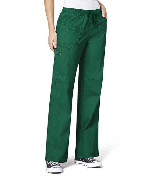 WonderFlex Faith  Women's Boot-cut  Cargo Pants Hunter Green