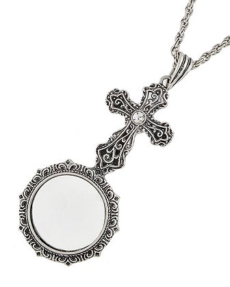 Long Cross Magnifying Necklace