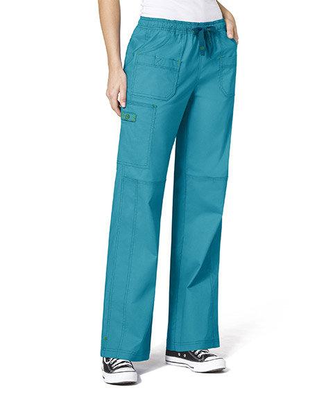 WonderFlex Faith  Women's Boot-cut  Cargo Pants Real Teal