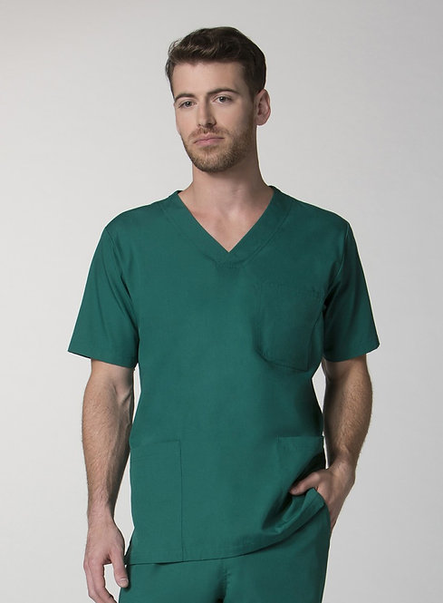 Men's 3-Pocket V-Neck Top -Hunter