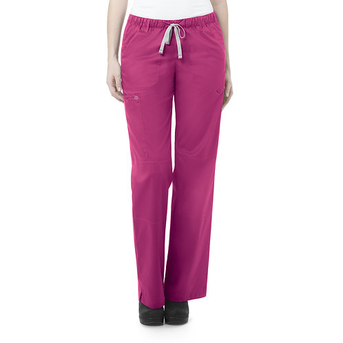 Women's Straight Leg Cargo Pant - Fushia